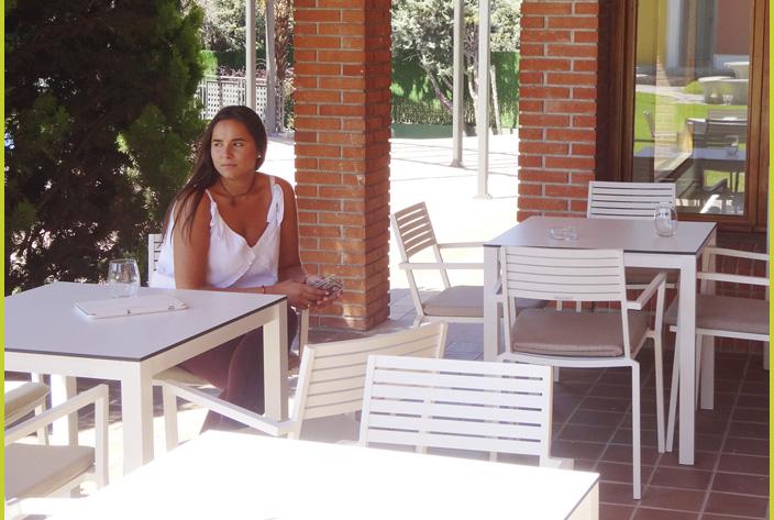 Comedor exterior Residencia Montepríncipe