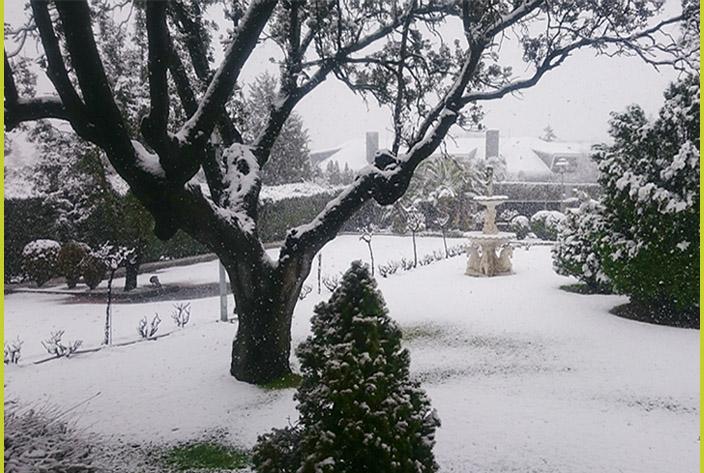 La Residencia Monteprincipe con Nieve