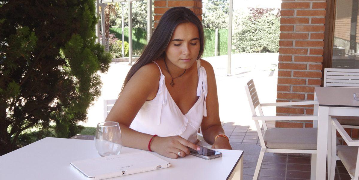 En el comedor de la residencia Montepríncipe