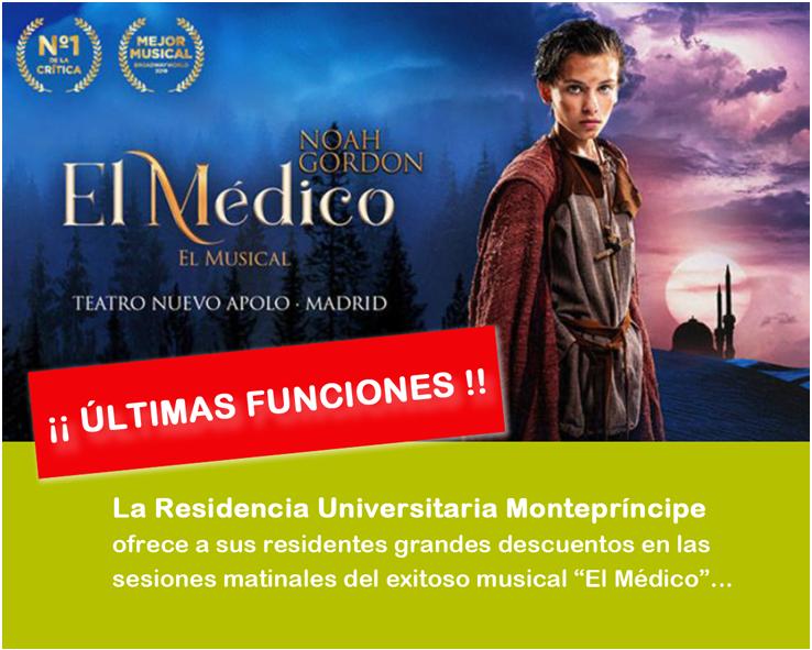 """Descuentos para el musical """"El Médico"""""""